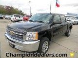 2012 Black Chevrolet Silverado 1500 LT Crew Cab #58238315