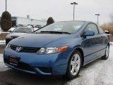 2007 Atomic Blue Metallic Honda Civic EX Coupe #5815600