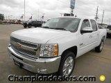 2012 Summit White Chevrolet Silverado 1500 LT Crew Cab #58238312