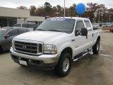 2003 Oxford White Ford F250 Super Duty Lariat Crew Cab 4x4 #58239024