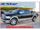 2009 Brilliant Black Crystal Pearl Dodge Ram 1500 Laramie Crew Cab #58239004