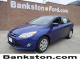 2012 Sonic Blue Metallic Ford Focus SE Sedan #58238237