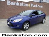 2012 Sonic Blue Metallic Ford Focus SE Sport Sedan #58238235