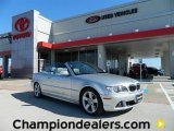 2004 Titanium Silver Metallic BMW 3 Series 325i Convertible #57874815