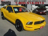 2006 Screaming Yellow Ford Mustang V6 Deluxe Coupe #58090064