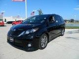 2012 Black Toyota Sienna SE #57874695
