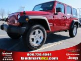 2012 Flame Red Jeep Wrangler Unlimited Sport S 4x4 #58364483