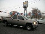 2009 Steel Gray Metallic GMC Sierra 2500HD Work Truck Crew Cab 4x4 #58364451