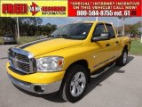 2008 Detonator Yellow Dodge Ram 1500 Big Horn Edition Quad Cab 4x4 #58387250