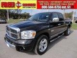 2008 Brilliant Black Crystal Pearl Dodge Ram 1500 Laramie Quad Cab #58387246