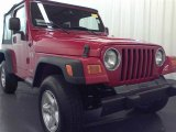 2006 Flame Red Jeep Wrangler X 4x4 #58396968