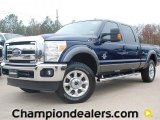 2012 Dark Blue Pearl Metallic Ford F250 Super Duty Lariat Crew Cab 4x4 #58396615