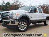 2012 Oxford White Ford F250 Super Duty Lariat Crew Cab 4x4 #58396612
