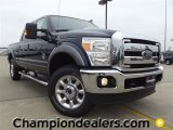2012 Dark Blue Pearl Metallic Ford F250 Super Duty Lariat Crew Cab 4x4 #58396611