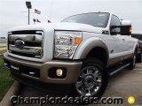 2012 White Platinum Metallic Tri-Coat Ford F250 Super Duty King Ranch Crew Cab 4x4 #58396606