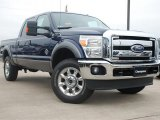 2012 Dark Blue Pearl Metallic Ford F250 Super Duty Lariat Crew Cab 4x4 #58396602