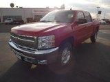 2012 Victory Red Chevrolet Silverado 1500 LT Crew Cab 4x4 #58396892