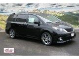 2012 Black Toyota Sienna SE #58396556