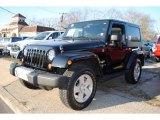 2010 Black Jeep Wrangler Sahara 4x4 #58397070