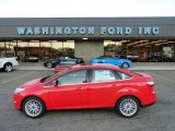 2012 Race Red Ford Focus SEL Sedan #58396842