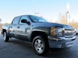 2012 Blue Granite Metallic Chevrolet Silverado 1500 LT Crew Cab #58396813