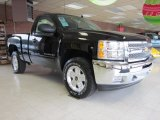 2012 Black Chevrolet Silverado 1500 LT Regular Cab 4x4 #58448186