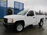 2012 Summit White Chevrolet Silverado 1500 Work Truck Regular Cab 4x4 #58447611