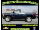 2012 Imperial Blue Metallic Chevrolet Silverado 1500 Work Truck Regular Cab 4x4 #58448135