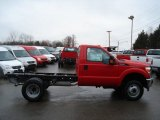 2012 Vermillion Red Ford F350 Super Duty XL SuperCab 4x4 Dually Chassis #58447534
