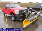 2012 Vermillion Red Ford F350 Super Duty XL Regular Cab 4x4 Plow Truck #58447476