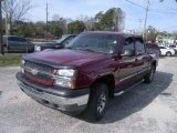 2005 Sport Red Metallic Chevrolet Silverado 1500 LS Crew Cab 4x4 #58501755