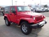 2010 Flame Red Jeep Wrangler Sahara 4x4 #58501742