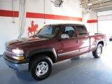 2000 Dark Carmine Red Metallic Chevrolet Silverado 1500 LS Extended Cab 4x4 #58501206