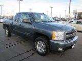 2008 Blue Granite Metallic Chevrolet Silverado 1500 LT Extended Cab 4x4 #58501728
