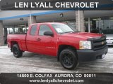 2007 Victory Red Chevrolet Silverado 1500 Work Truck Extended Cab 4x4 #58501449