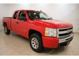 2009 Victory Red Chevrolet Silverado 1500 LS Extended Cab 4x4 #58555656