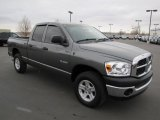 2008 Mineral Gray Metallic Dodge Ram 1500 ST Quad Cab 4x4 #58555608