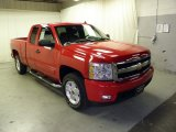 2008 Victory Red Chevrolet Silverado 1500 LT Extended Cab 4x4 #58555590