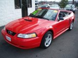 2000 Laser Red Metallic Ford Mustang GT Convertible #5850170