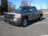 2009 Graystone Metallic Chevrolet Silverado 1500 LS Extended Cab #58608302