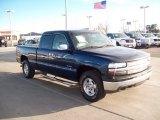 2002 Indigo Blue Metallic Chevrolet Silverado 1500 LT Extended Cab 4x4 #58608292