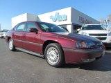 2001 Dark Carmine Red Metallic Chevrolet Impala  #58608282