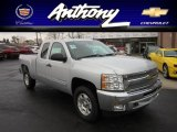 2012 Silver Ice Metallic Chevrolet Silverado 1500 LT Extended Cab 4x4 #58608541