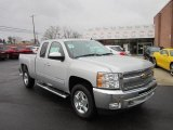 2012 Silver Ice Metallic Chevrolet Silverado 1500 LT Extended Cab 4x4 #58608540