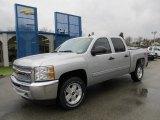 2012 Silver Ice Metallic Chevrolet Silverado 1500 LT Crew Cab 4x4 #58607955