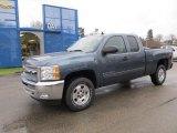 2012 Blue Granite Metallic Chevrolet Silverado 1500 LT Extended Cab 4x4 #58607950