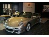 2012 Platinum Silver Metallic Porsche 911 Turbo S Cabriolet #58608194