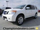 2012 Blizzard White Nissan Armada Platinum #58607804