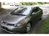 2006 Galaxy Gray Metallic Honda Civic LX Coupe #5840255