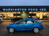 2012 Blue Candy Metallic Ford Focus Titanium Sedan #58664324